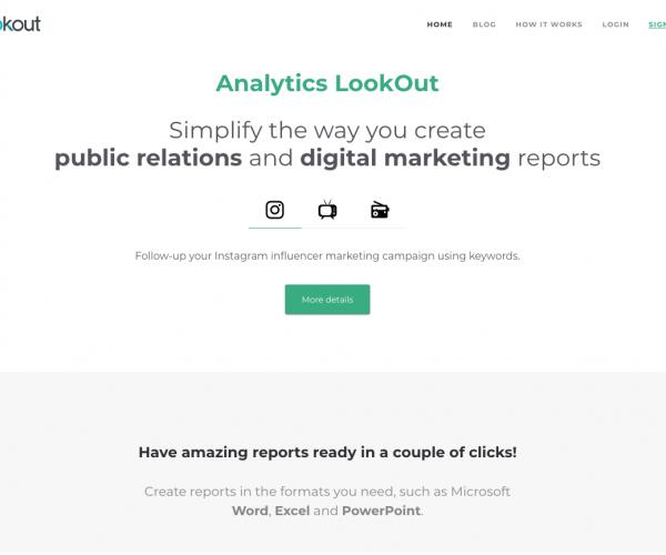 """Diseño y Desarrollo Web de """"Analytics Lookout"""""""